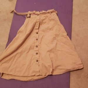 Beige, Nancy Drew style skirt